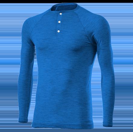 SERAFINO MERINOS wool blue