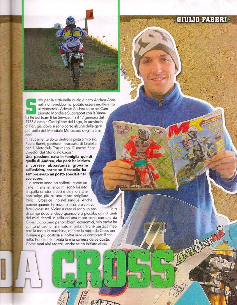 Andrea Antonelli su MX Motosprint di Ottobre!
