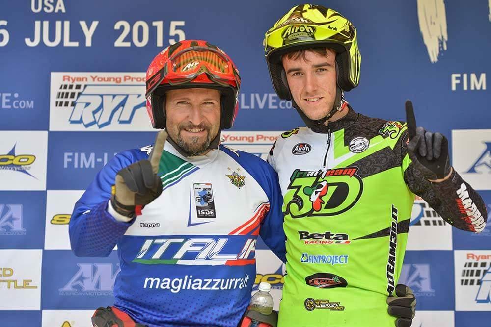 Marco Fioletti Campione del Mondo Trial 125cc