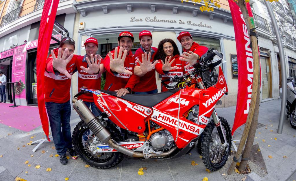 Gerard Farrés junto al equipo Rally Dakar 2018