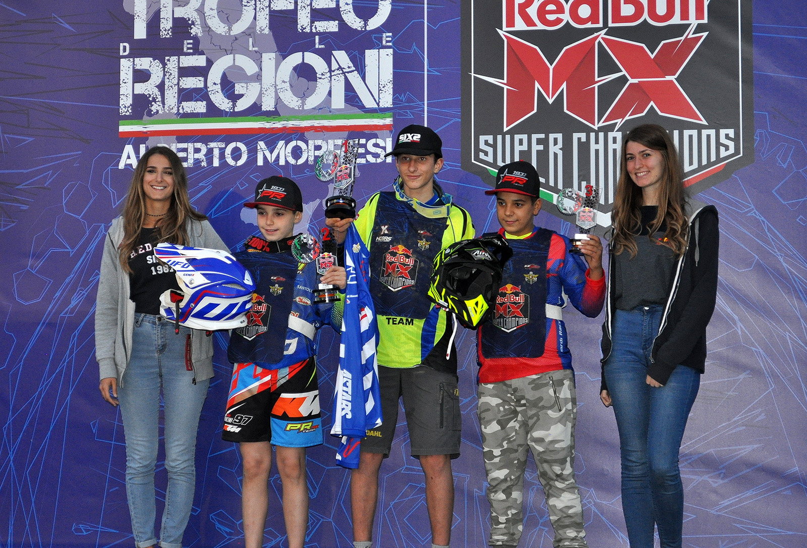 Podio junior Red Bull Mini Superchampions castiglione 2018