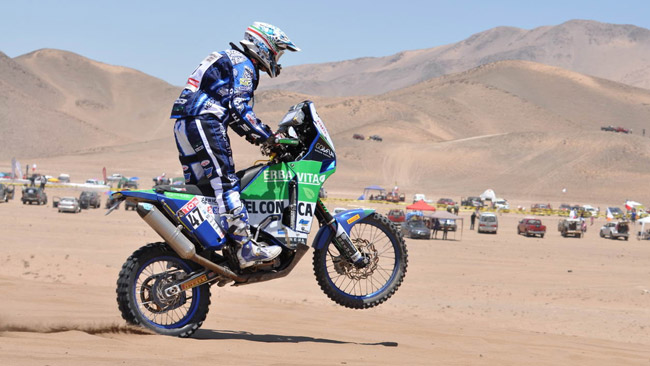 Dakar - Zanotti al via della quinta tappa da Arequipa (Perù) ad Arica (Cile)