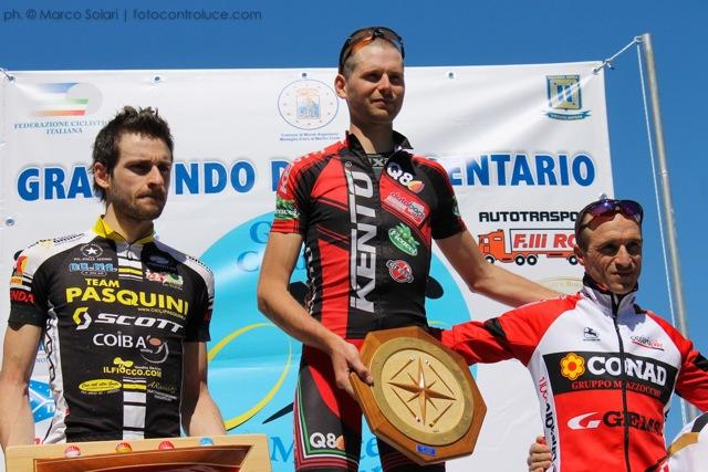 Crisi vince la Gran Fondo dell'Argentario e regala la priva vittoria al Kento Racing Team