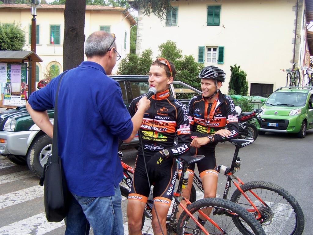 Davide Di Marco sul podio della Rampiconero