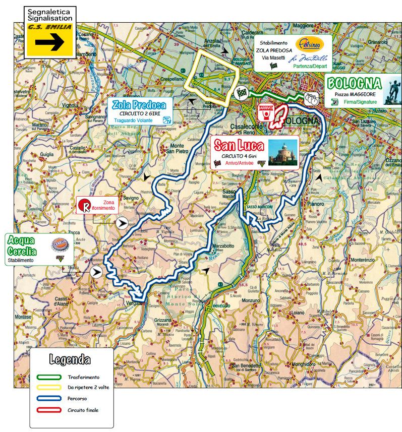 Giro Emilia 2011 - percorso