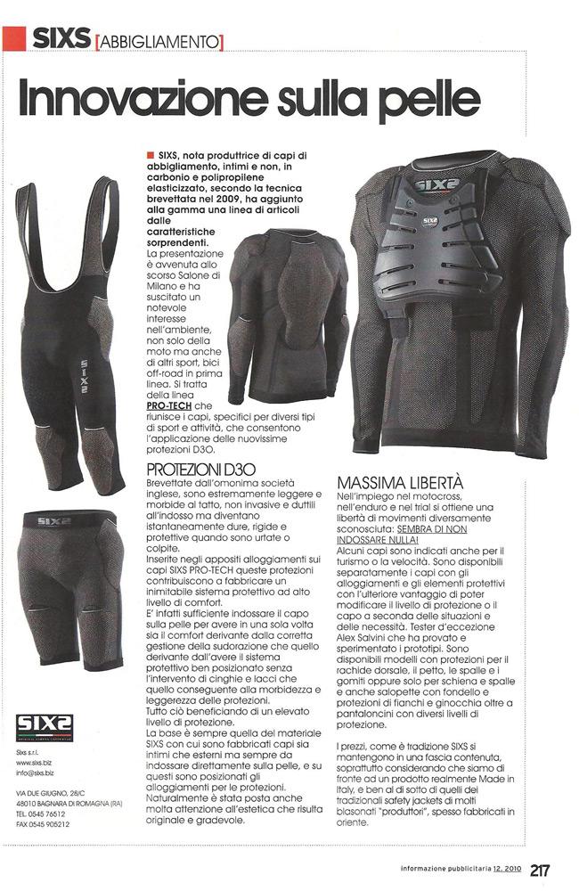Innovazione sulla pelle | Motocross - dic. 2010